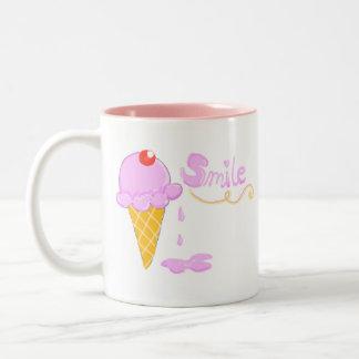 Smile Ice Cream Two-Tone Coffee Mug