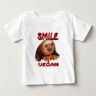 smile if you are a vegan. baby T-Shirt