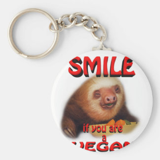 smile if you are a vegan. keychain