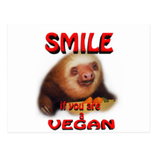 smile if you are a vegan. postcard