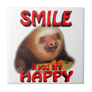 smile if you are happy. ceramic tile