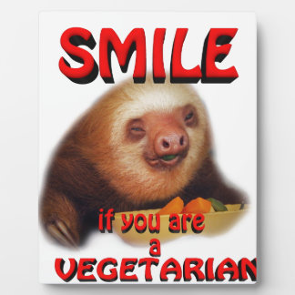 smile if you are vegetarian display plaques