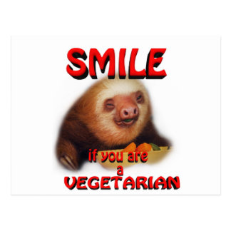 smile if you are vegetarian post cards