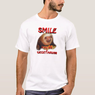 smile if you are vegetarian T-Shirt