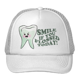 Smile If You Flossed Today Trucker Hat