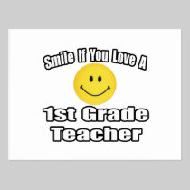 Smile If You Love A 1st Grade Teacher Postcard