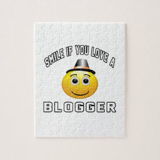 smile if you love a Blogger. Puzzle