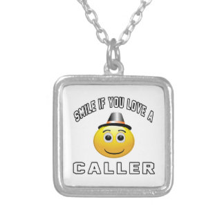 smile if you love a Caller. Personalized Necklace