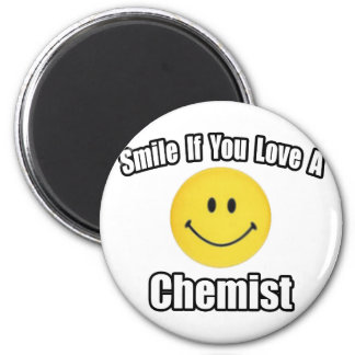 Smile If You Love a Chemist 2 Inch Round Magnet