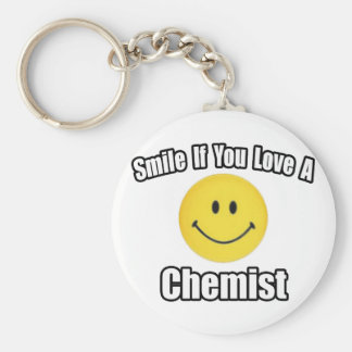 Smile If You Love a Chemist Basic Round Button Keychain
