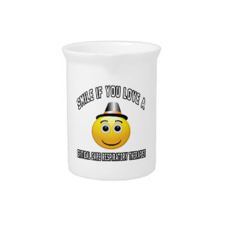 smile if you love a Critical Care Respiratory Ther Beverage Pitchers