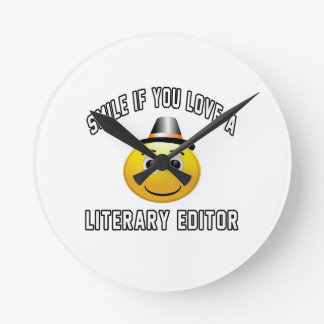 smile if you love a Literary editor. Clocks