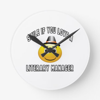 smile if you love a Literary Manager. Wall Clock