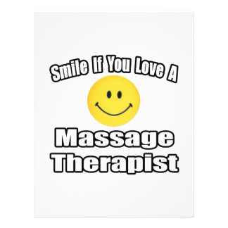 Smile If You Love A Massage Therapist Flyer