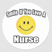 Smile If You Love a Nurse Stickers