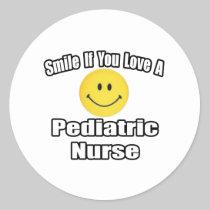 Smile If You Love A Pediatric Nurse Sticker