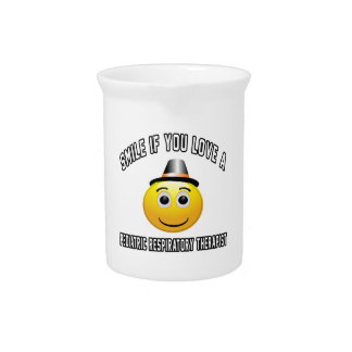 smile if you love a Pediatric Respiratory Therapis Beverage Pitcher