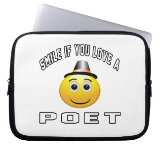 smile if you love a Poet. Laptop Computer Sleeve