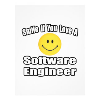 Smile If You Love A Software Engineer Personalized Flyer