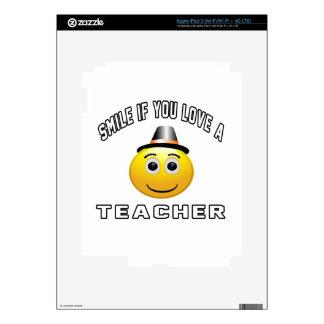 smile if you love a Teacher. iPad 3 Skins