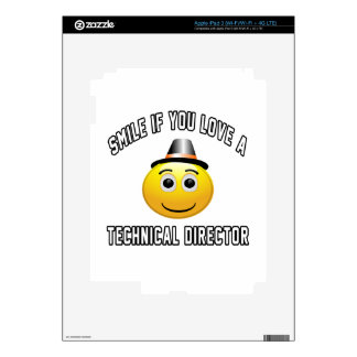 smile if you love a Technical Director. iPad 3 Skin