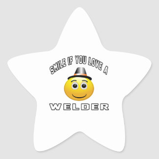 smile if you love a Welder. Stickers
