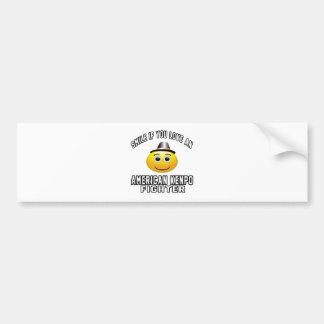 Smile if you love American Kenpo Fighter Car Bumper Sticker