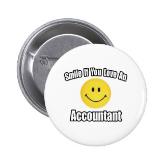 Smile If You Love an Accountant 2 Inch Round Button