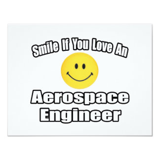 Smile If You Love An Aerospace Engineer Personalized Announcements