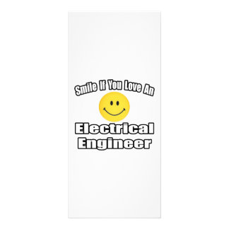 Smile If You Love An Electrical Engineer Rack Card Design