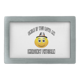 smile if you love an Emergency physician. Belt Buckle