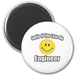 Smile If You Love an Engineer Magnet