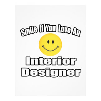 Smile If You Love An Interior Designer Flyer