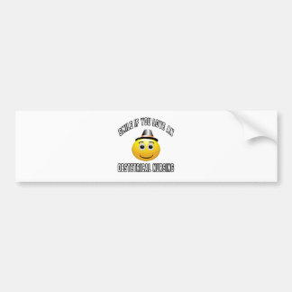 smile if you love an Obstetrical nursing. Car Bumper Sticker