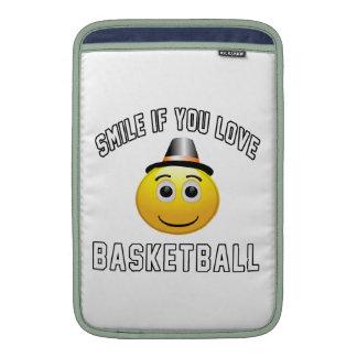 Smile if you love Basketball. MacBook Sleeve