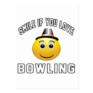 Smile if you love Bowling. Postcard