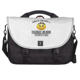 Smile if you love Brazilian Jiu-Jitsu Fighter Laptop Bag