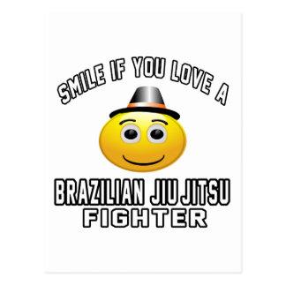 Smile if you love Brazilian Jiu-Jitsu Fighter Postcard