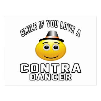 Smile if you love Contra Dancer Postcard