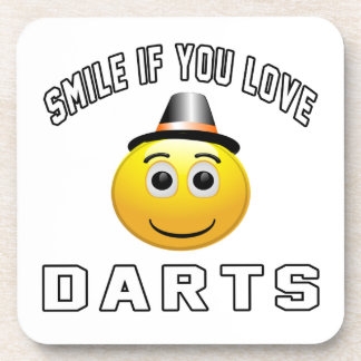Smile if you love Darts. Coaster