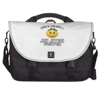 Smile if you love Jiu-Jitsu Fighter Computer Bag