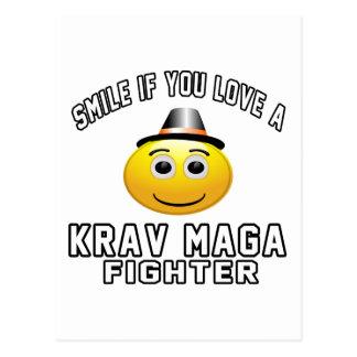 Smile if you love Krav Maga Fighter Postcard