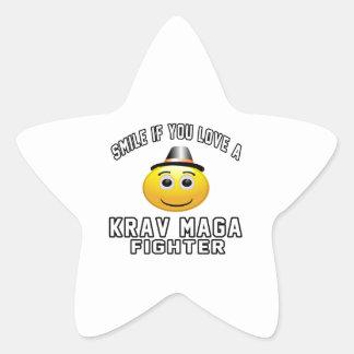 Smile if you love Krav Maga Fighter Star Sticker