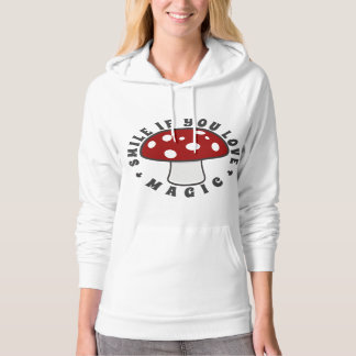 Smile If You Love Magic - Psychedelic Plants, Red Hoodie
