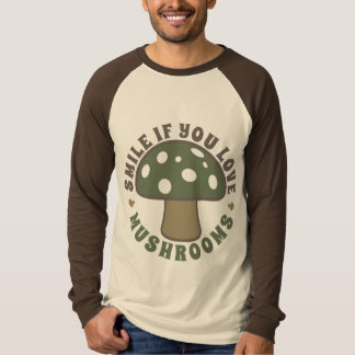 Smile If You Love Mushrooms - Psychedelics, Camo T-Shirt