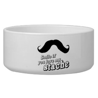 Smile if you love my stache png dog water bowl