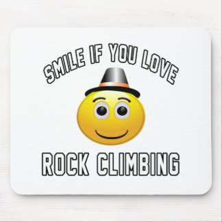 Smile if you love Rock Climbing. Mousepads
