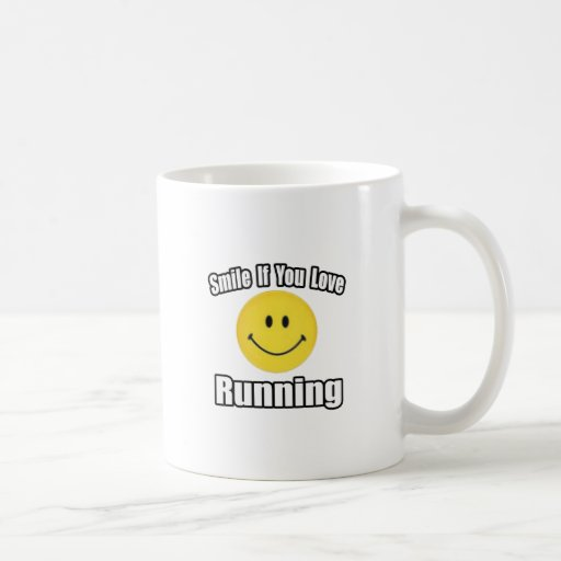 Smile If You Love Running Classic White Coffee Mug