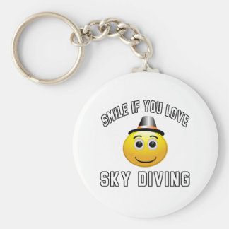 Smile if you love Sky diving. Keychain