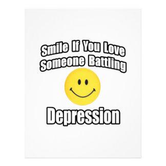 Smile If You Love Someone Battling Depression Flyer